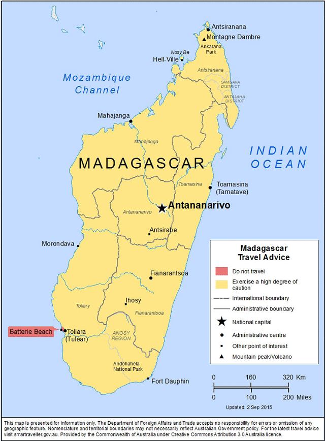 Madagascar Island Map