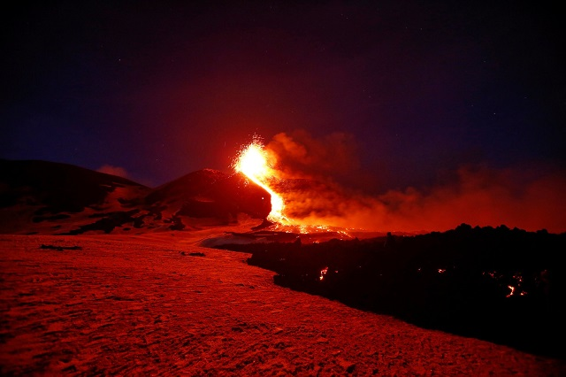 Mount Etna by Reuters