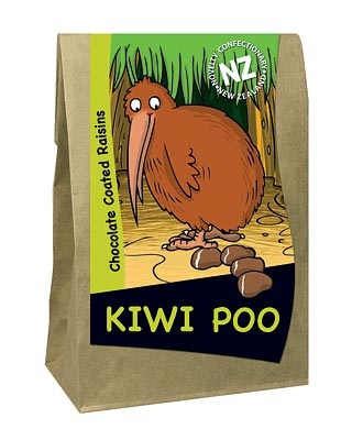 Kiwi droppings, New Zealand
