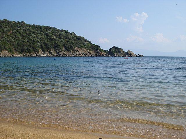 Amouliani greek islets beach