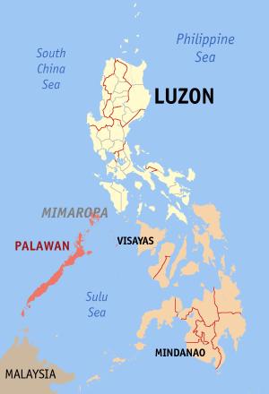 Palawan archipelago Map