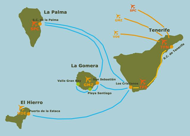 La Gomera Island Map