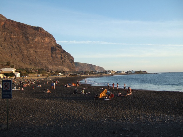 black sand beach at Playa de Valle Gran Rey