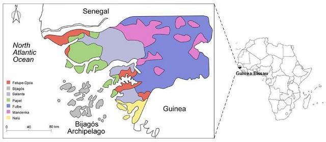 Bijagós Islands map