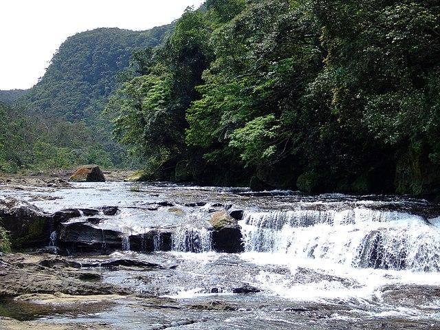 Kanpire waterfalls in Minor Islands of Japan