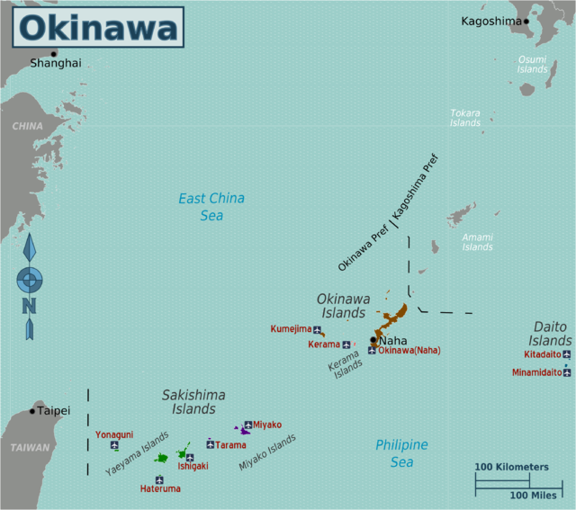 Okinawa a group of minor islands of Japan