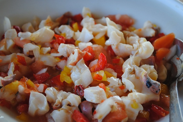 Caribbean Islands food Conch Salad