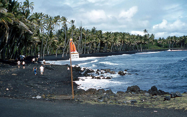 Kaimu black sand beaches, Hawaii
