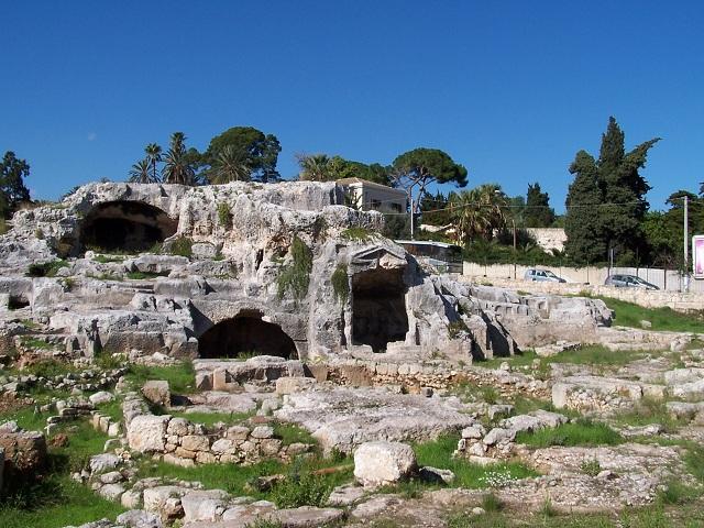 landmarks in Syracuse- Sicily