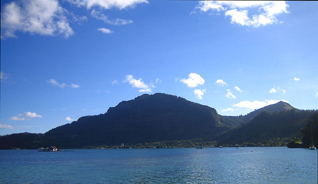 French Polynesian Islands Mangareva Island