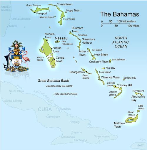 Bahamas Islands Map