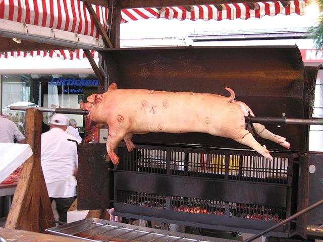 Food and Drinks Barbequed Hog