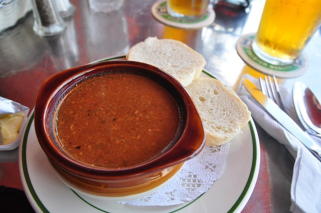 Food and Drinks in Bermuda Fish Chowder