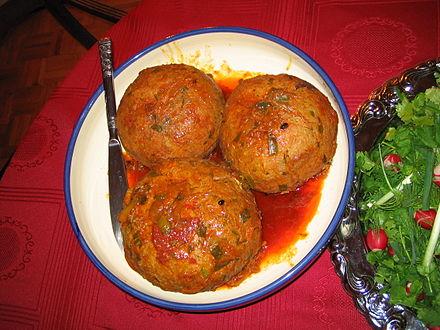 Food and Drinks Kofta-a meatball