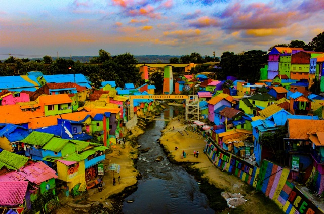 The most colorful village of Indonesia- Jodipan