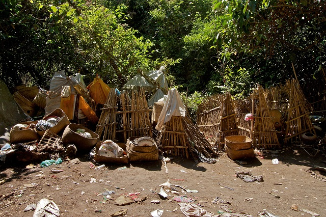 bamboo cages for corpse