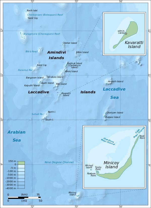 Kavaratti island map