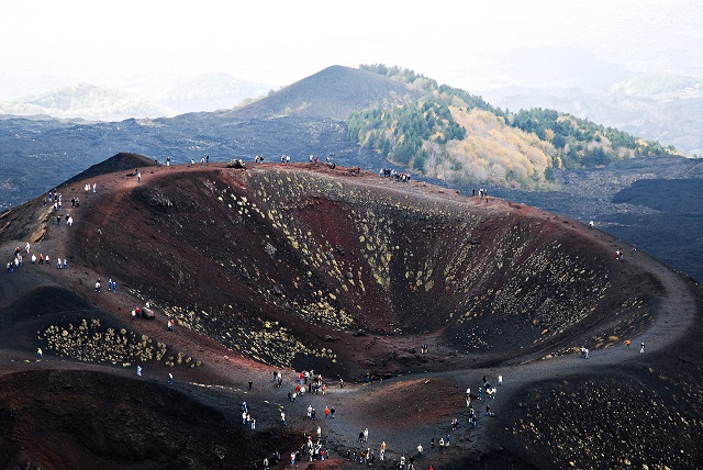 Mount Etna crater