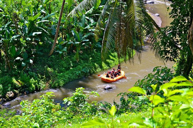 Ayung River water rafting