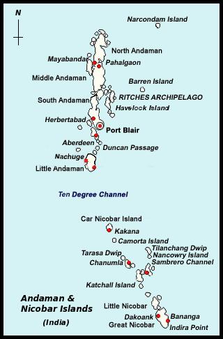 Andaman Nicobar Islands Map