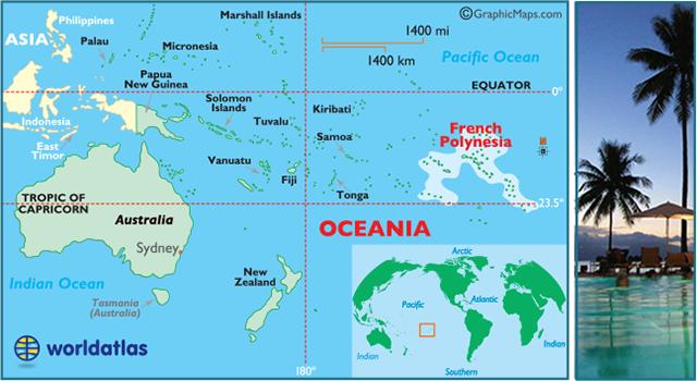 Map French Polynesia