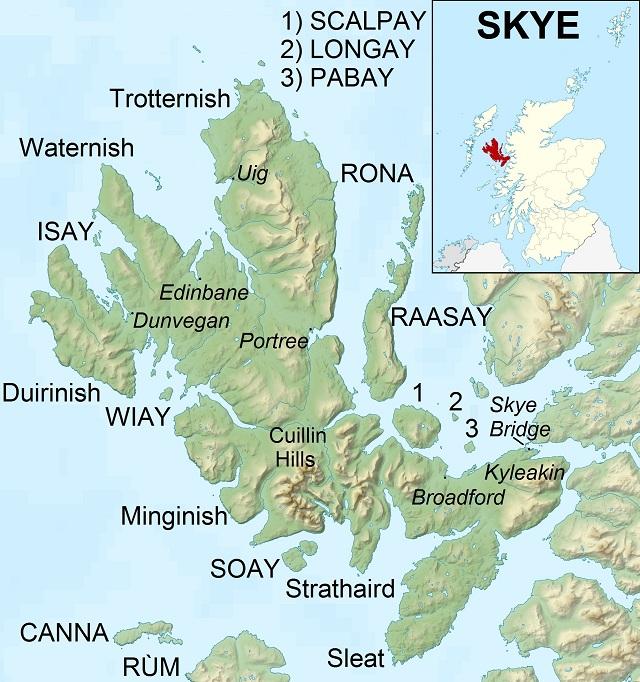 Cruise Destinations Isle of Skye Map