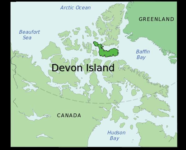 Devon Island Map