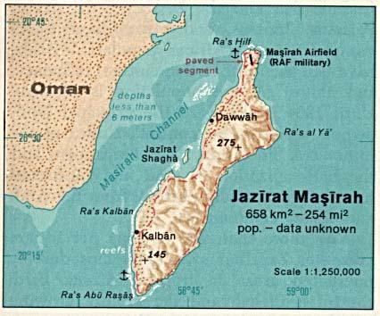 Masirah map