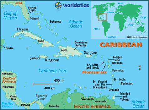 Montserrat Island Map