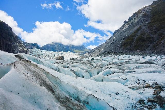 Fox Glacier waterfalls in South Island