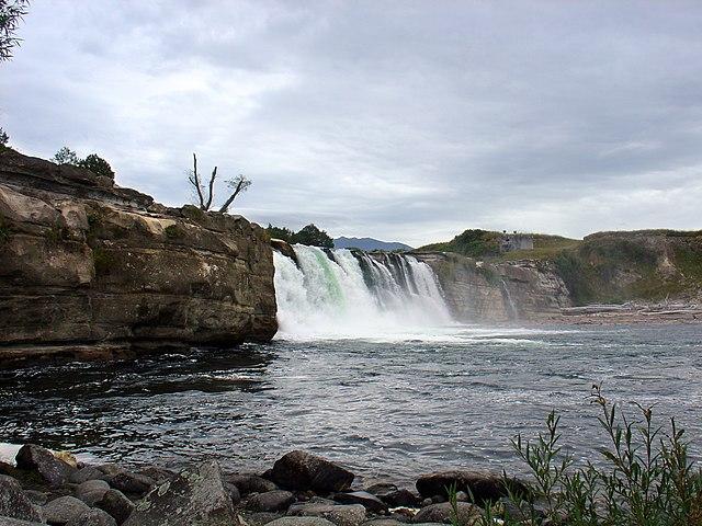Maruia waterfalls in South Island