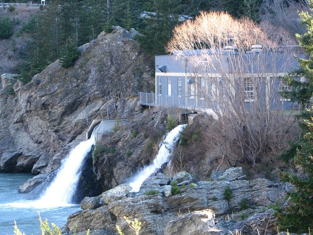 Roaring Meg Power Station Waterfall