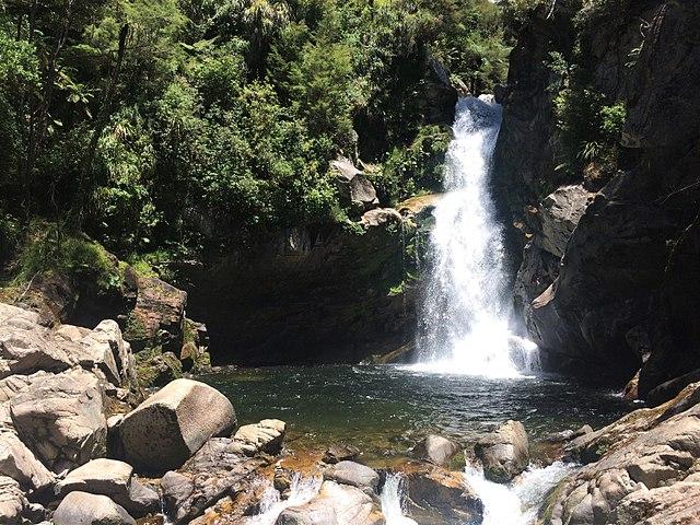 Wainui Beautiful Waterfalls in South Island