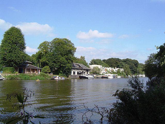 Eyots in River Thames Eel Pie Island