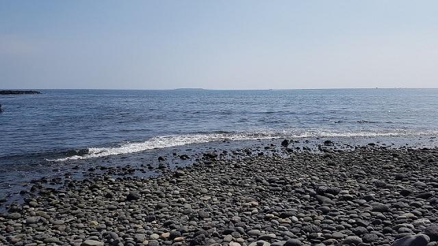 Jeju black sand beach