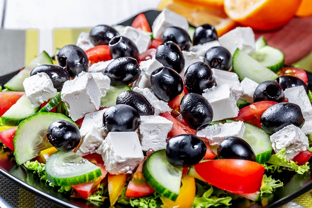 Food and Drinks Greek salad