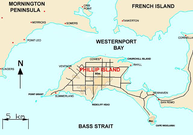Phillip Island Map