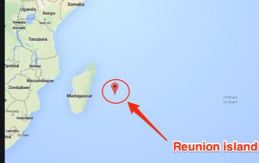 Reunion Island Map