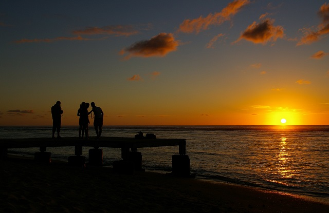Reunion island sun set