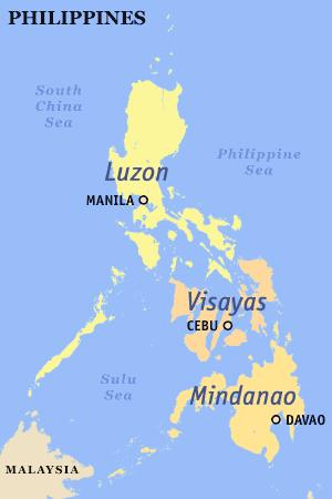 Siargao Island Philippines Map