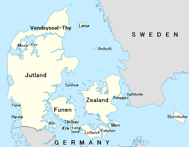Danish Islands Map