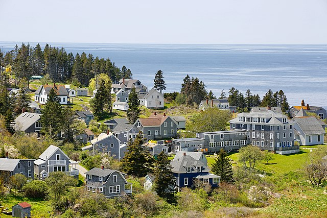 Islands with No Cars in USA Monhegan Island, Maine