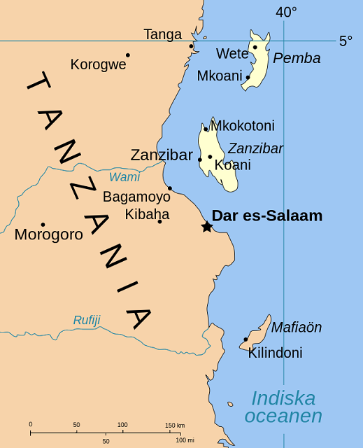 Zanzibar Island Map