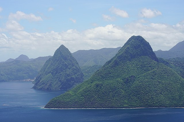 Pitons-volcanic hills